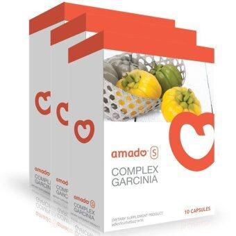 ขายด่วน ยาลดน้ำหนักร่างกาย ยี่ห้อเชนธนา ลดเอว ลดพุง และลดหน้าท้อง ลดไวเร่งด่วน (Amado S Garcinia) 3 Packed