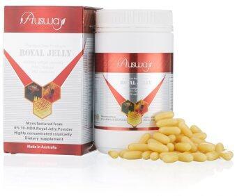 นมผึ้ง Ausway Royal Jelly 1600mg 6% 365 เม็ด
