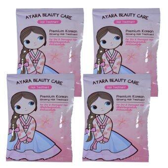 Ayara Premium Korean Ginseng Hair Treatment อายาระทรีทเม้นท์ผมสูตรเข้มข้น จากโสมเกาหลีและผงทองคำ บรรจุ 20 มล. (4 ซอง)