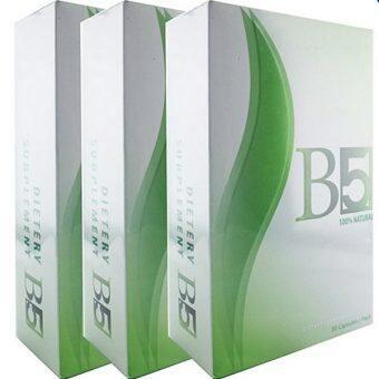 จัดโปรโมชั่น อาหารเสริมลดน้ำหนักร่างกายส่วนเกิน B5 slim ลดกระชับสัดส่วน 30 เม็ด (3 Packed)