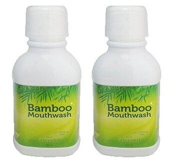 Bamboo mouthwash น้ำยาบ้วนปาก ขจัดคราบหินปูน ชา กาแฟ แพ็คคู่ (300 ml.)