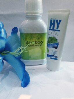 Bamboo mouthwash 300ml. + HY DENT Set ดูแลสุขภาพปาก 80 g.