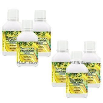 Bamboo Mouthwash Plus แบมบู เม้าท์วอช พลัส 300 ml. ( 6 ขวด)