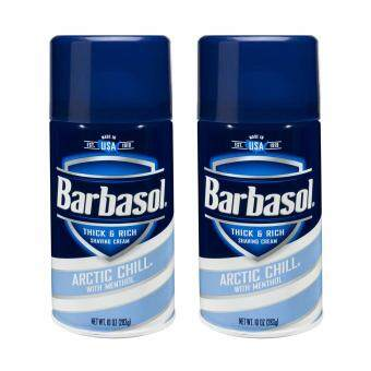 Harga ครีมโกนหนวด Barbasol Arctic Chill Thick & Rich Shaving Cream10oz.