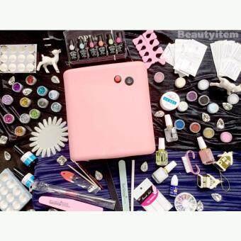 รีวิว Beauty item อุปกรณ์เพ้นท์เล็บ และอุปกรณ์ทําเล็บ สีทาเล็บและต่อเล็บเจล ครบเซ็ต 83ชิ้น พร้อมยาทาเล็บ 12ขวด
