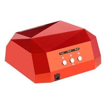 Beauty item เครื่องอบเล็บ หลอด LED+UV 36W สำหรับ อบเจล ต่อเล็บ (สีแดง)