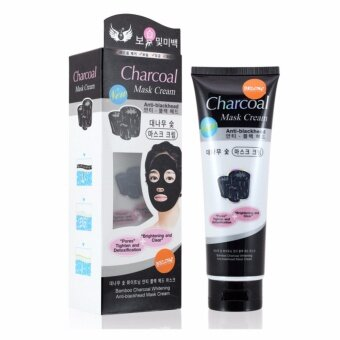 BELOV bamboo charcoal whitening anti-blackhead mask cream โคลนมาส์กหน้าลอกสิวเสี้ยน 130 กรัม