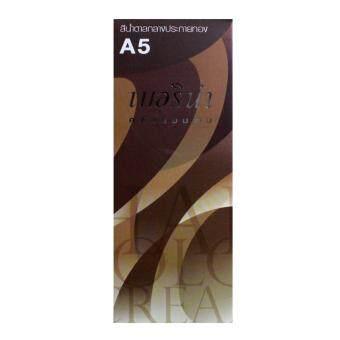 Berina A5 เบอริน่า ครีมเปลี่ยนสีผม สีน้ำตาลกลางประกายทอง 60 ML.1 กล่อง