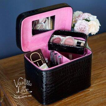 ซื้อ/ขาย BG54 Vanilla in Love กระเป๋าเครื่องสําอางทรงแข็ง พร้อมช่องแบ่ง สีดำ