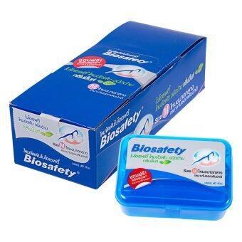 Biosafety ไหมขัดฟันชนิดด้าม ไบโอเซฟตี้ กลิ่นมิ้นท์ Size M ขนาดกลาง(6 กล่อง)