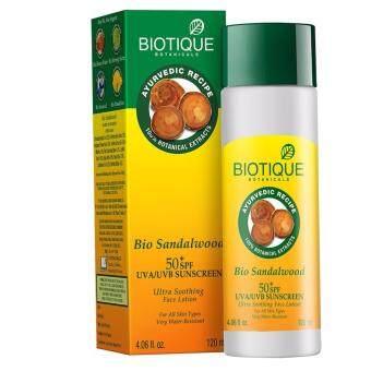 Biotique sandalwood ultra Soothing Face lotion SPF 50+ ครีมกันแดดออร์แกนิก 120 ml.