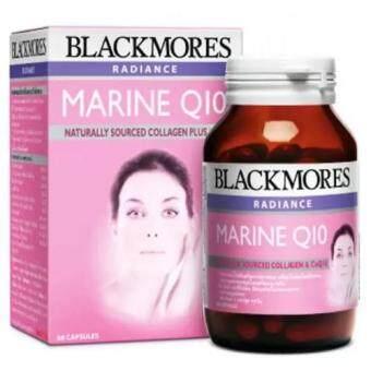 Blackmores อาหารเสริมเพิ่มกระจ่างใส Radiance Marine Q10 จำนวน 60 แคปซูล ป้องกันริ้วรอย (1ขวด)