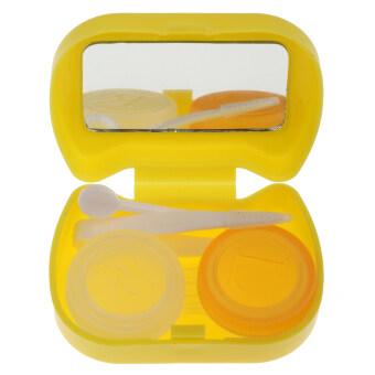 BolehDeals เคสกระเป๋าชุดเลนส์พลาสติกกล่องโฟมเก็บท่องเที่ยวสีเหลือง