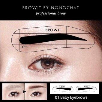 ต้องการขาย Browit by nongchat โครงสติ๊กเกอร์เขียนคิ้ว โดยน้องฉัตร 01 baby eyebrows (12 คู่)