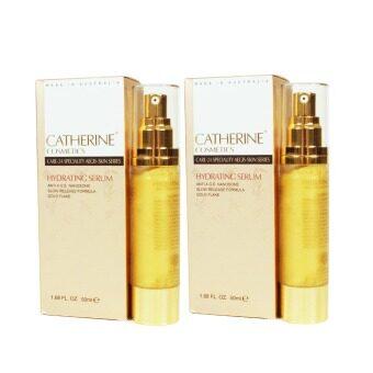Catherine เซรั่มเกล็ดทองคำ Hydrating Serum Nanosome 50 ml. (2 ชิ้น)
