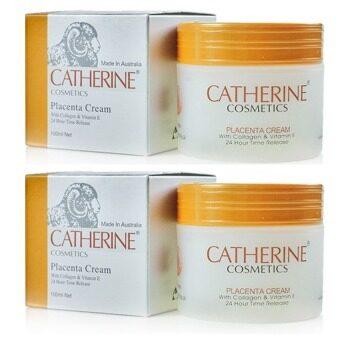 Catherine Placenta Cream ครีมรกแกะ 2 กระปุก