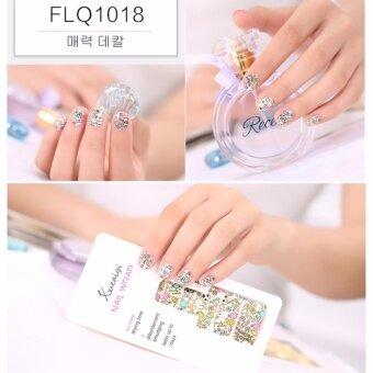 CHANEE Korean Nail Art Sticker สติกเกอร์ติดเล็บลอกลายจากเกาหลี - No.FLQ1018