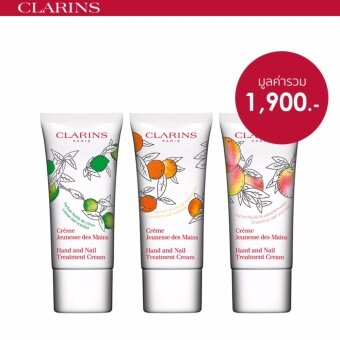 CLARINS ชุดเซ็ทผลิตภัณฑ์บำรุงมือ Hand and Nail Collector Treatment Value Pack - Limited Edition
