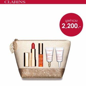 Clarins ชุดเซ็ทผลิตภัณฑ์บำรุงริมฝีปาก Joli Rouge Precious Holiday