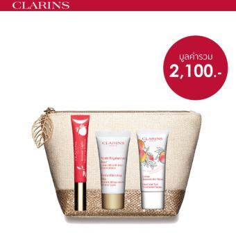 Clarins ชุดเซ็ทผลิตภัณฑ์บำรุงริมฝีปาก Natural Limited Precious Holiday