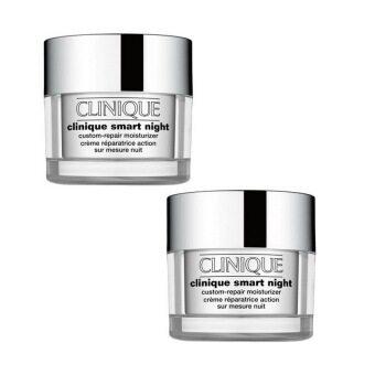 Clinique Smart Night Custom Repair Moisturizer (15 ml. x 2 กระปุก)