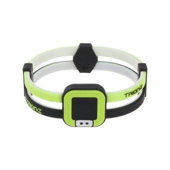 สร้อยข้อมือ Colantotte DUO-LOOP สร้อยข้อมือแม่เหล็กบรรเทาอาการปวดข้อมือ แขน และบ่า (Size M) - Black/Lime