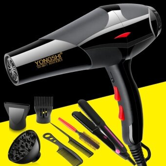 Cold and hot air dormitory hair dryer home barber shop high power negative ion hair dryer hair dryer hair dryer student - net2400 professional wind buy a send six plus hair straightener - intl