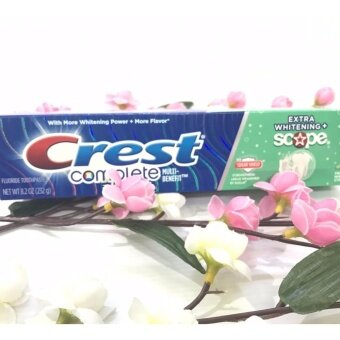 Harga Crest Complete Multi-Benefit Whitening Plus Scope Toothpaste - EXTRA WHITENING SCOPE / SUGAR SHIELD FRESH MINT STRIPED
