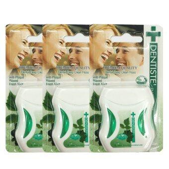 ต้องการขาย Dentiste' Plus white Premium Anti-Plaque PTFE floss fresh mintไหมขัดฟันเดนทิสเต้ ขนาด50m./อัน (3 อัน)