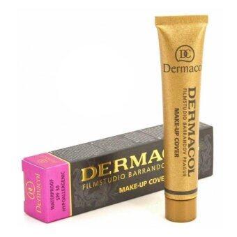 Dermacol Make Up Cover Foundation No.218 ครีมรองพื้น เดอร์มาคอล ปกปิดรอยสัก สำหรับผิวสองสี-เหลือง ฉลากไทย จำนวน 1 กล่อง