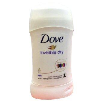 Dove Anti-Perspirant Deodorant Invisible Solid Original Clean โดฟโรลออนแบบแท่ง ระงับเหงื่อและกลิ่นกาย ทารักแร้ ทาเต่า #invisible Dry( 1 แท่ง)