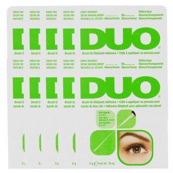 2560 DUO Brush On Striplash Adhesive กาวติดขนตาปลอมแบรนด์ดังจาก USA 5g (Green) (10 กล่อง)