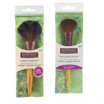 Ecotools Hot set3 Large Powder Brush + Ecotools PRECISION BLUSHBRUSH (ปัดแป้ง + ปัดแก้ม)