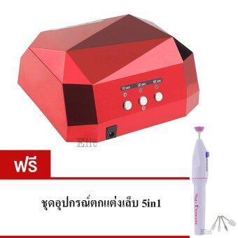 ประกาศขาย Elit เครื่องอบเล็บ อบเจล ต่อเล็บ ไฟLED+UV แบบอัตโนมัติ แถมฟรี ชุดอุปกรณ์ตกแต่งเล็บ 5in1