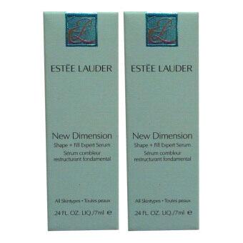 Estee Lauder New Dimension Shape + Fill Expert Serumช่วยฟื้นบำรุงให้ผิวดูอิ่มและกระชับได้รูปชัดเจน 7ml. (2 ขวด)