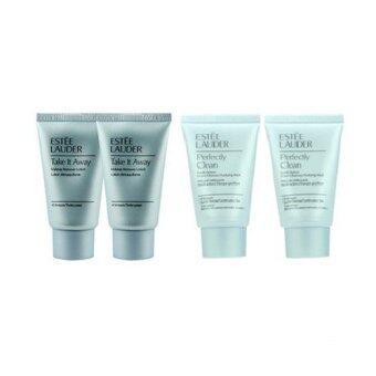 รีวิวพันทิป Estee Lauder Take it Away Makeup Remover Lotion 30ml x2 ชิ้น + Estee Lauder Perfectly Clean Multi-Action Foam Cleanser/Purifying Mask 30ml x2 ชิ้น