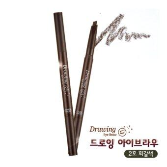 Etude House ดินสอเขียนคิ้ว #No.2 Gray Brown x1ด้าม Drawing Eye BrowDuo (ของแท้100%)