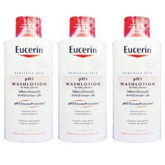 ประกาศขาย Eucerin Sensitive Skin pH5 Washlotion For Body and Face 400 ml (3ขวด)