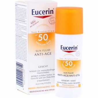 Eucerin Sun Fluid Anti – Age SPF50+PA+++ 50ml.