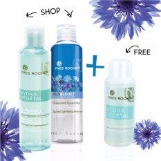 Eye Remover and Makeup Cleansing Set for Normal to Dehydrated Skin (FREE! Mini Hydra Vegetal Micellar Water 50 ml)