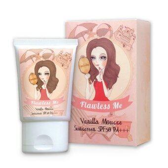 Flawless Me กันแดดสำหรับผิวหน้า Vanilla Mousse Sunscreen SPF50 PA+++
