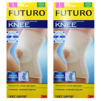 ประเทศไทย Futuro Stabilizing Knee Size Lอุปกรณ์พยุงเข่า เสริมแกนไซส์Lรุ่น46165 (2อัน)