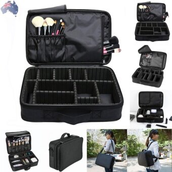 Harga George Store Hot Sell Portable Makeup Brush Bag Case Cosmetic PouchStorage Organizer Holder Travel Black - intl