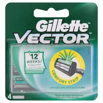 GILLETTE ใบมีดเวคเตอร์ x4