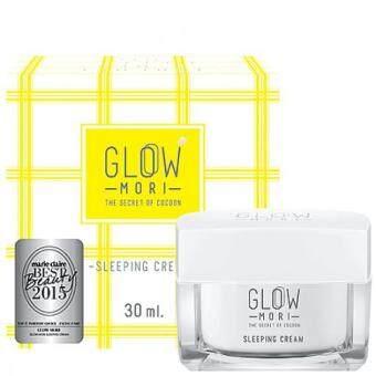 GLOW MORI Sleeping Cream 30 mlครีมบำรุงผิวหน้าสารสกัดจากรังไหมสีทอง(Cocoon)ช่วยผลัดเซลล์ผิว ฟื้นฟูผิวขาวใส เนียนนุ่มชุ่มชื้นกระชับผิวให้เรียวสวย