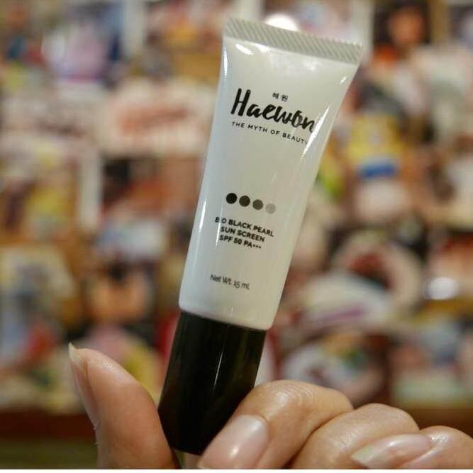 ( ส่งฟรี Kerry Express ) Haewon แฮวอน ครีมกันแดดแฮวอน  กันแดดแฮวอน ไบโอแบล็คเพิร์ล กันแดดยอดฮิตขนาด 15 มล. ของแท้ตรงจากบริษัท sunscreen SPF 50 PA+++ ครีมกันแดด เนื้อบางเบา ไม่อุดตัน เกลี่ยง่าย