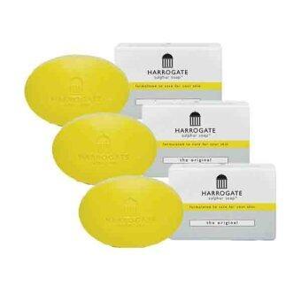 Harrogate soap ฮาโรเกต สบู่ซัลเฟอร์ สบู่น้ำแร่ รักษาสิว x3 50 g