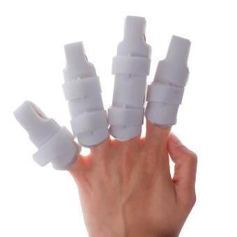 ลดราคา Hight Quality Store New New Finger Splint Two Sided Curved FoamProtector Brace Support With Strap XL(8.5CM)