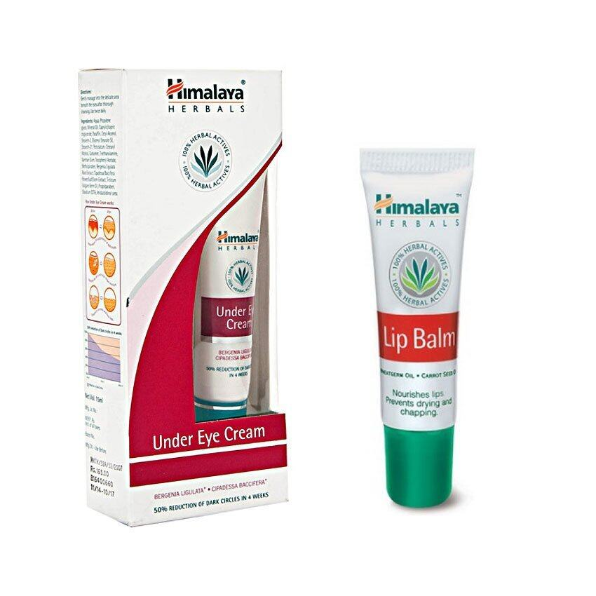 Himalaya Herbals Under Eye Cream 15ml + Lip Balm 10 gm