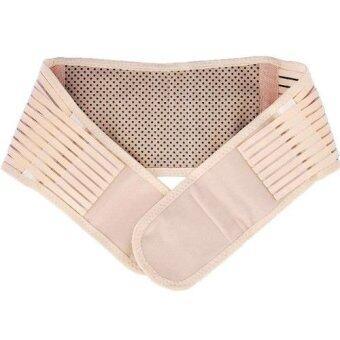 ideecraft เข็มขัดรัดกระชับเอวด้านหลัง ป้องกันเอว หลัง ช่วยผ่อนคลาย ปวดเมื่อย Lumbar waist support (สี ครีม) (M)